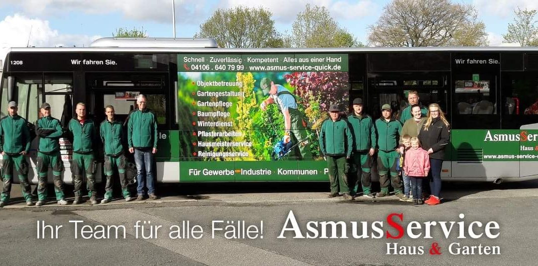 Danke an das Asmus Service Team!