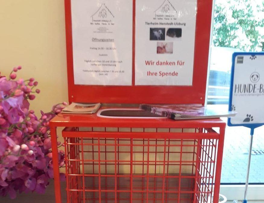 Spendenbox jetzt auch bei Budnikowski